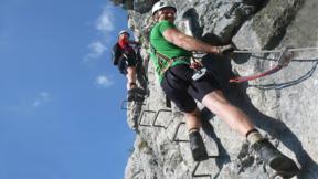 Gutschein für Klettersteigkurs mit Flying Fox