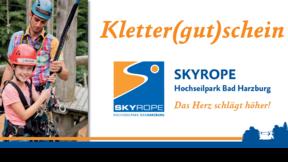 Gutschein SKYROPE Hochseilpark Erlebnisparcours unten