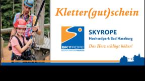 Gutschein SKYROPE Hochseilpark Erlebnisparcours oben