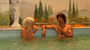 Romantischer Pool-Abend für Zwei