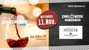 Weinwerk im Ennswerk mit Weingut Hindler am 11.11.2020