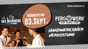 """Weinwerk im PergWerk """"Handwerksbier Verkostung"""" am 03.09.2020"""