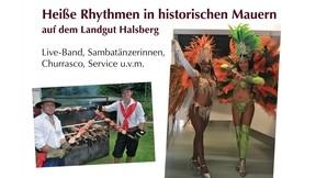 Heiße Rythmen in historischen Mauern am 11. April  2020  auf dem Landgut Halsberg
