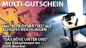 Multigutschein DDR-Bunker / Schlossrätsel