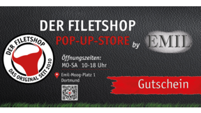 FILETSHOP Gutschein Popup Store