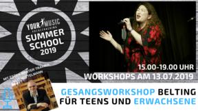 Summerschool: Gesangsworkshop Belting mit Estill Master Trainer Udo Nottelmann 13.07.2019
